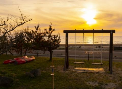 夕陽ブランコ